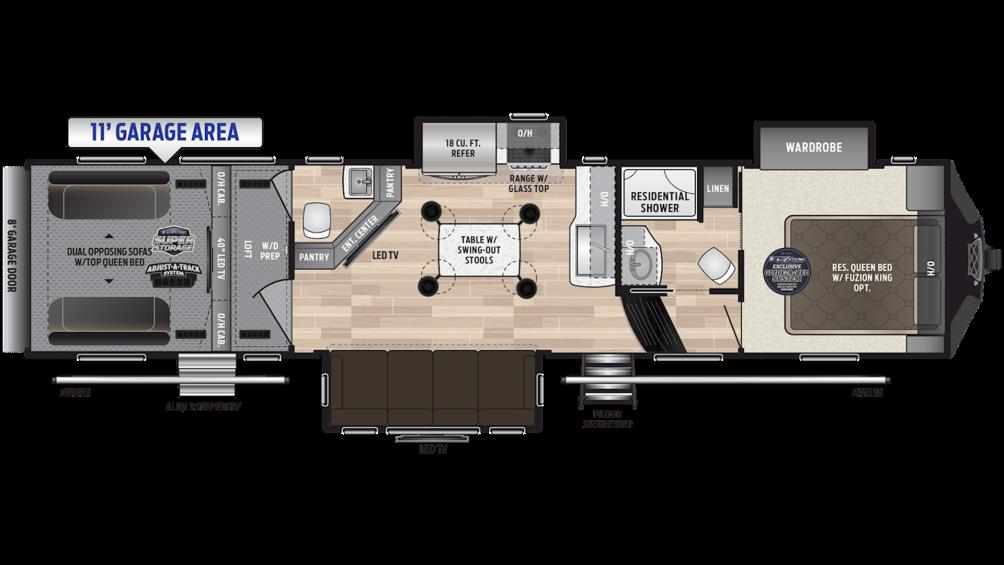 2019 Fuzion 373 Floor Plan Img