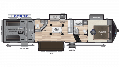 2019 Fuzion 373 Floor Plan Img