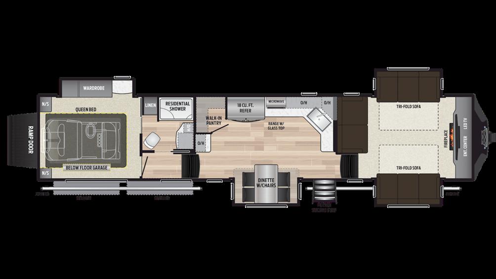 2019 Fuzion 410 Floor Plan Img