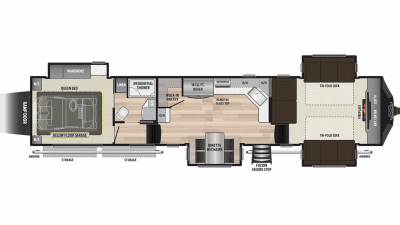 2019 Fuzion 410 Floor Plan Img