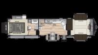 2019 Fuzion 410 Floor Plan