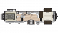 2019 Fuzion 410 Floor Plan