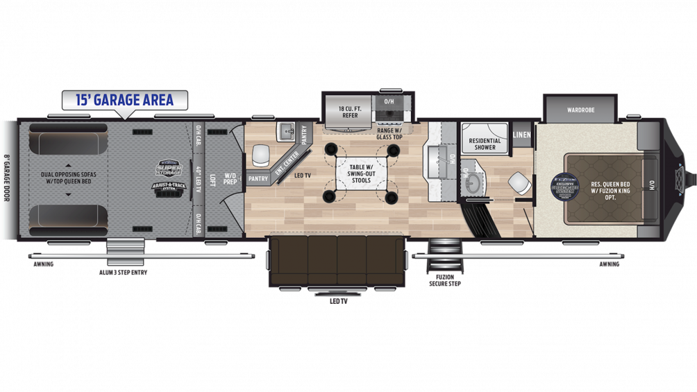 2019 Fuzion 419 Floor Plan Img