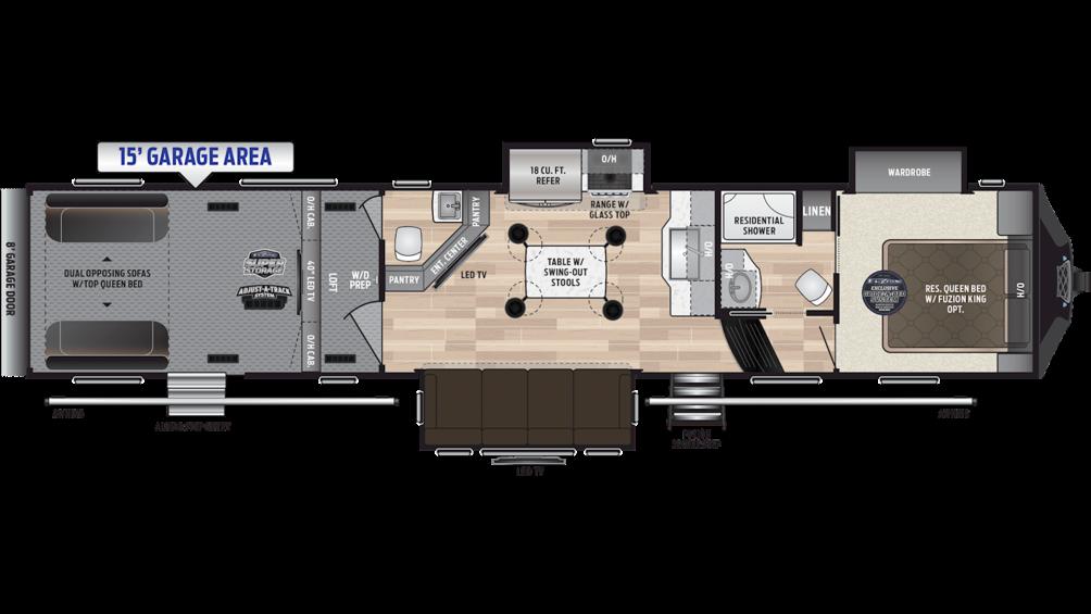 2019 Fuzion 419 Floor Plan Img