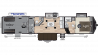2019 Fuzion 419 Floor Plan