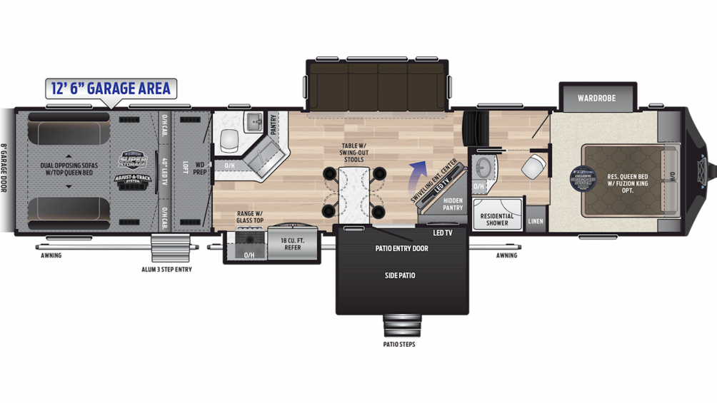 2019 Fuzion 424 Floor Plan Img