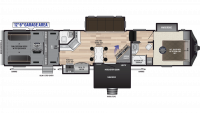 2019 Fuzion 424 Floor Plan