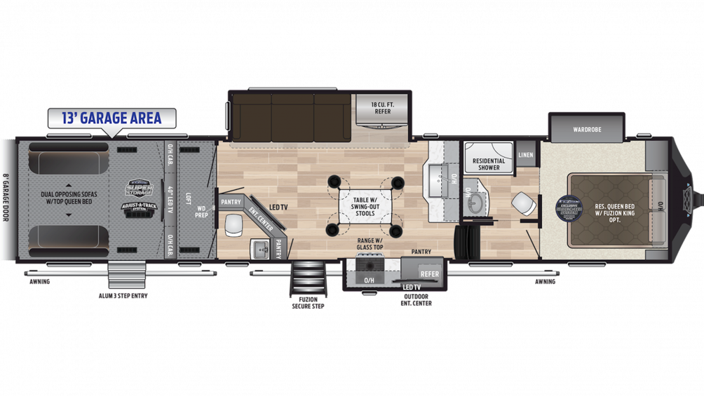 2019 Fuzion 427 Floor Plan Img