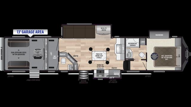 2019 Fuzion 427 Floor Plan Img