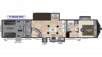2019 Fuzion 427 Floor Plan