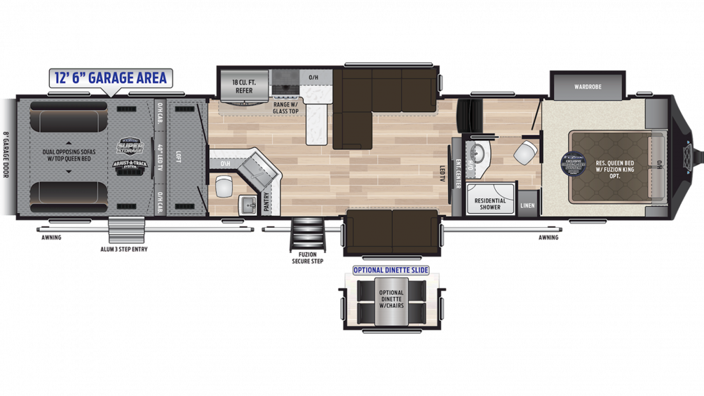 2019 Fuzion 429 Floor Plan Img