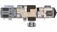 2019 Fuzion 429 Floor Plan
