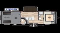 2019 Impact 332 Floor Plan
