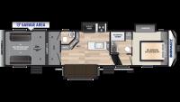 2019 Impact 367 Floor Plan