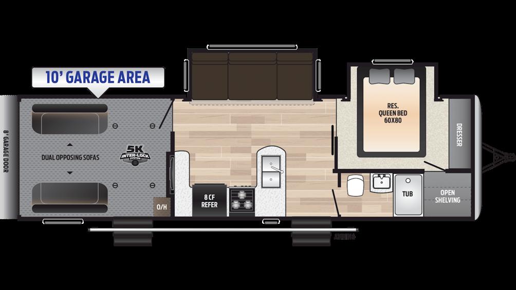 2019 Impact Vapor Lite 29V Floor Plan Img