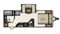 2014 Laredo SUPER LITE 240MK Floor Plan