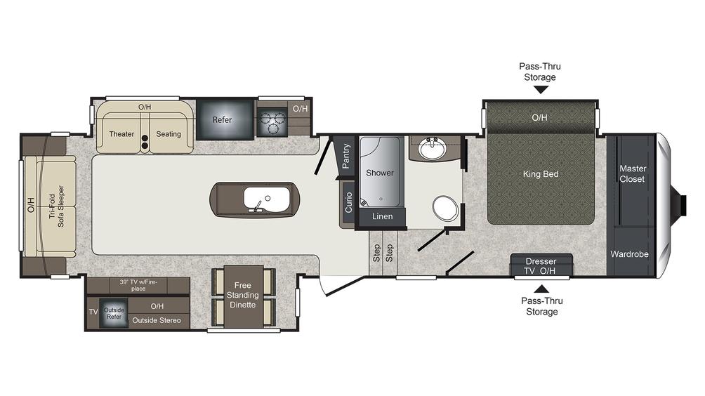 2018 Laredo 325RL Floor Plan