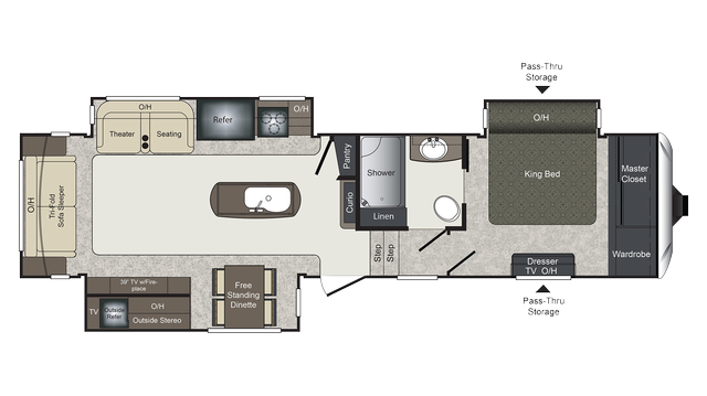 2018 Laredo 325RL Floor Plan