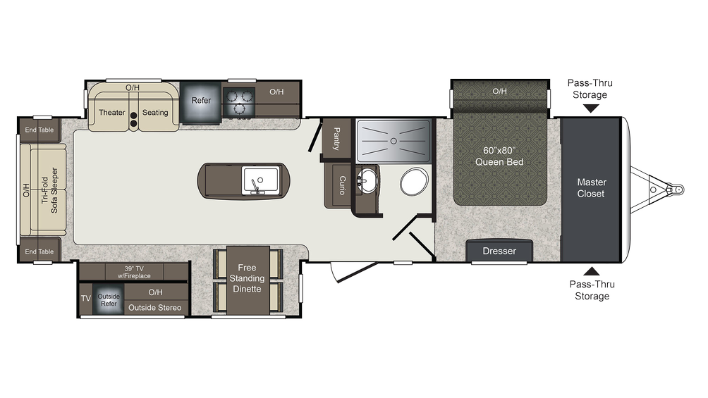 2017 Laredo 330RL Floor Plan