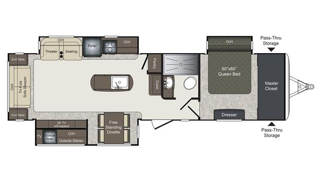 2017 Laredo 330RL Floor Plan