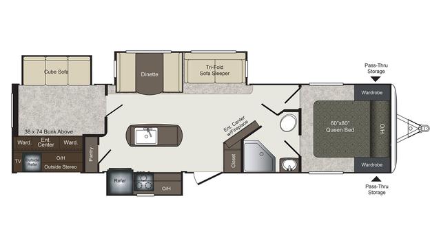2017 Laredo 331BH Floor Plan