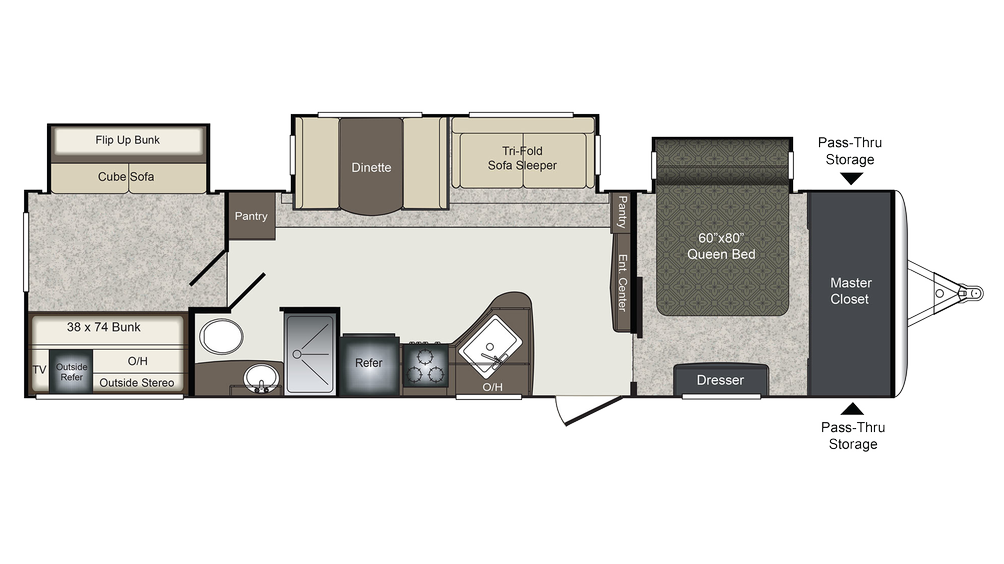 2018 Laredo 333BH Floor Plan