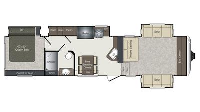 2018 Laredo 340FL Floor Plan