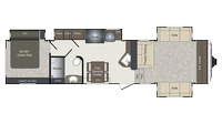 2018 Laredo 340FL Floor Plan