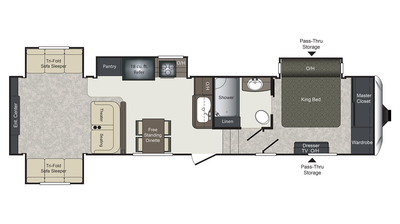 2018 Laredo 342RD Floor Plan