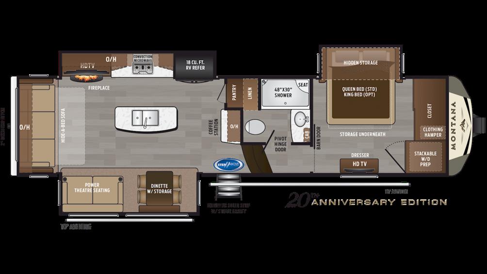 2019 Montana 3120RL Floor Plan Img