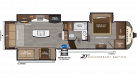 2019 Montana 3120RL Floor Plan