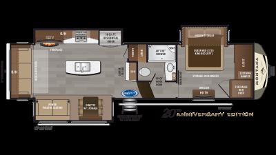 2019 Montana 3121RL Floor Plan Img
