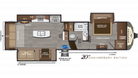 2019 Montana 3121RL Floor Plan