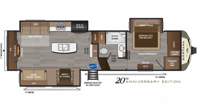2019 Montana 3130RE Floor Plan Img
