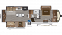 2019 Montana 3130RE Floor Plan