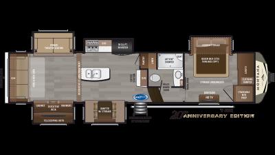 2019 Montana 3560RL Floor Plan Img