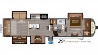 2019 Montana 3561RL Floor Plan
