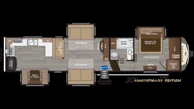 2019 Montana 3700LK Floor Plan Img