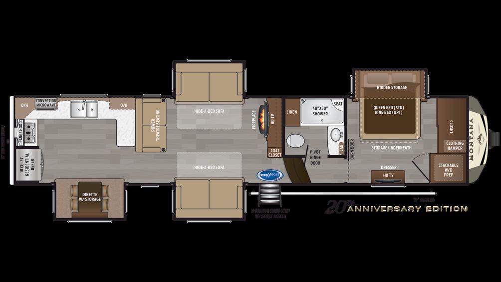 2019 Montana 3701LK Floor Plan Img