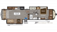 2019 Montana 3720RL Floor Plan