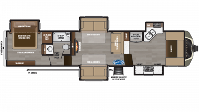 2019 Montana 3741FK Floor Plan Img
