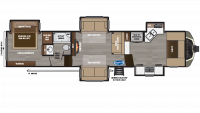 2019 Montana 3741FK Floor Plan