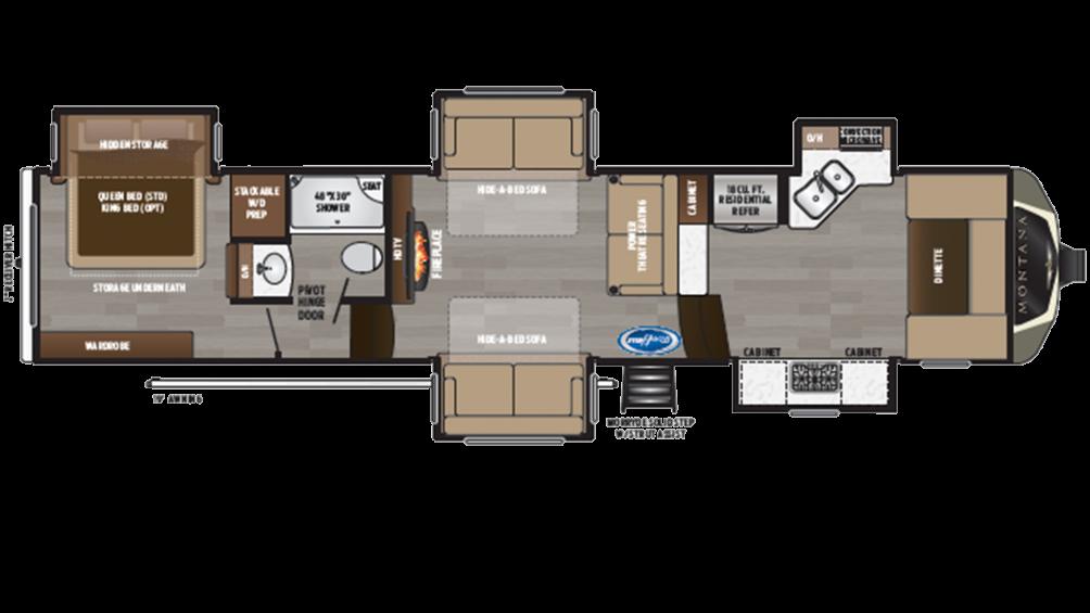 2019 Montana 3740FK Floor Plan Img