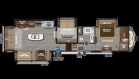 2019 Montana 3854BR Floor Plan