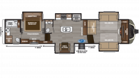 2019 Montana 3760FL Floor Plan
