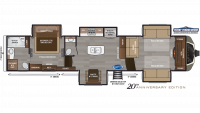 2019 Montana 3761FL Floor Plan