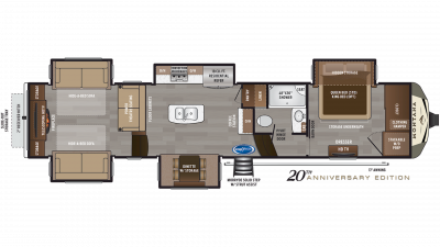 2019 Montana 3791RD Floor Plan Img