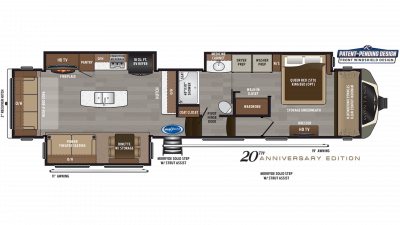 2019 Montana 3810MS Floor Plan Img