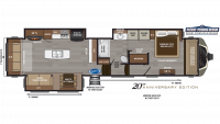 2019 Montana 3810MS Floor Plan