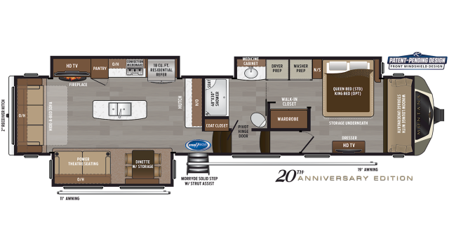 2019 Montana 3811MS Floor Plan